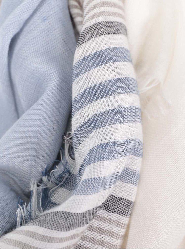 Modro-šedý unisex pruhovaný šátek Broadway Dulcia