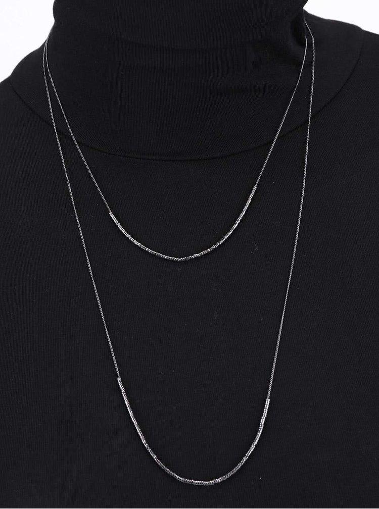 Kaskádovitý náhrdelník v šedé barvě Pieces Tashia