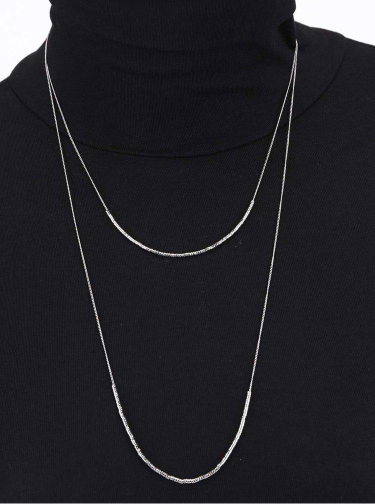 Kaskádovitý náhrdelník ve stříbrné barvě Pieces Tashia
