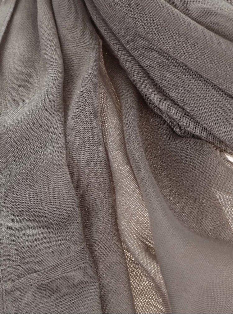 Šedý šátek Pieces Tilda