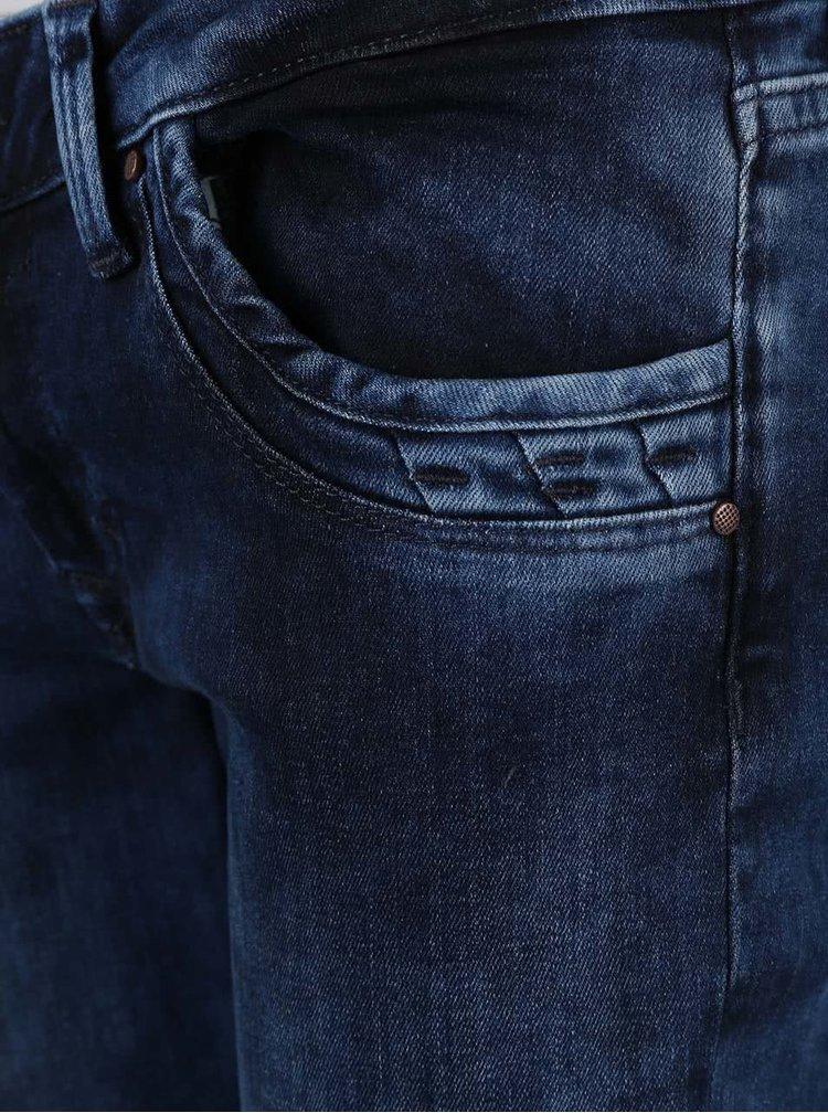 Blugi Pepe Jeans Ripple albaștri de damă cu talie joasă