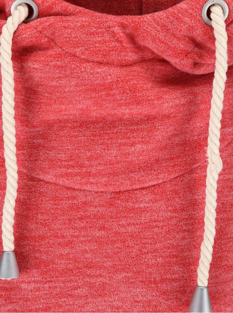 Červená žíhaná mikina s kapucí Haily´s Nori