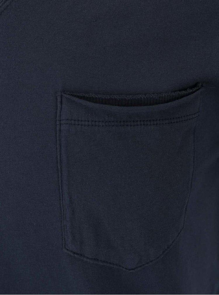 Tricou cu buzunar Pepe Jeans albastru