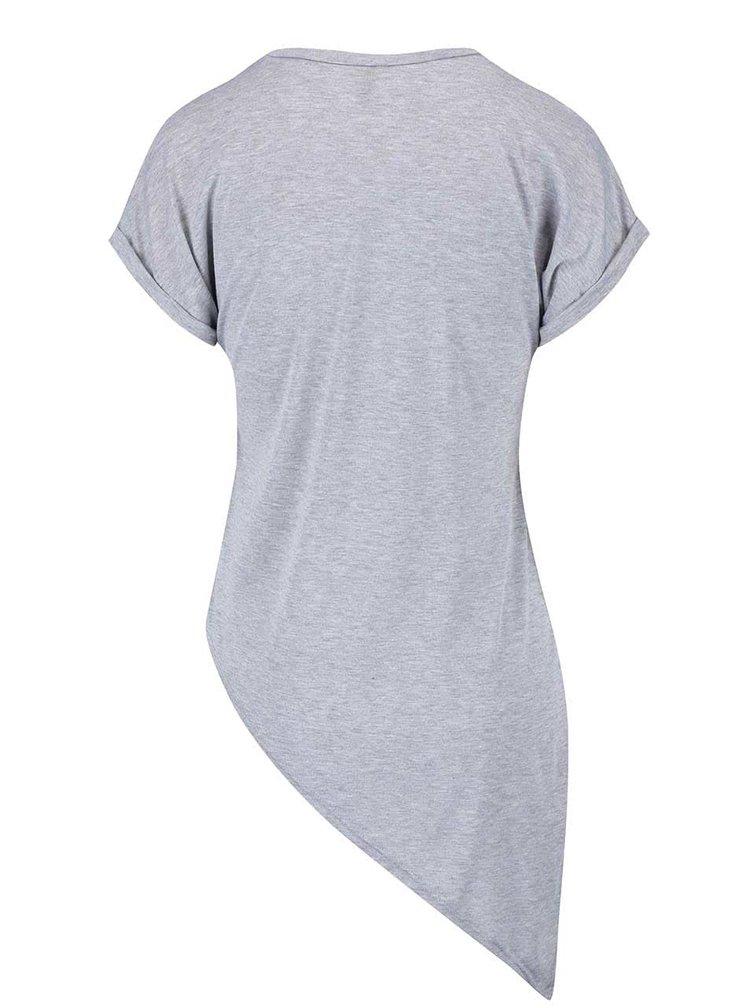 Tricou Haily´s Candy gri asimetric