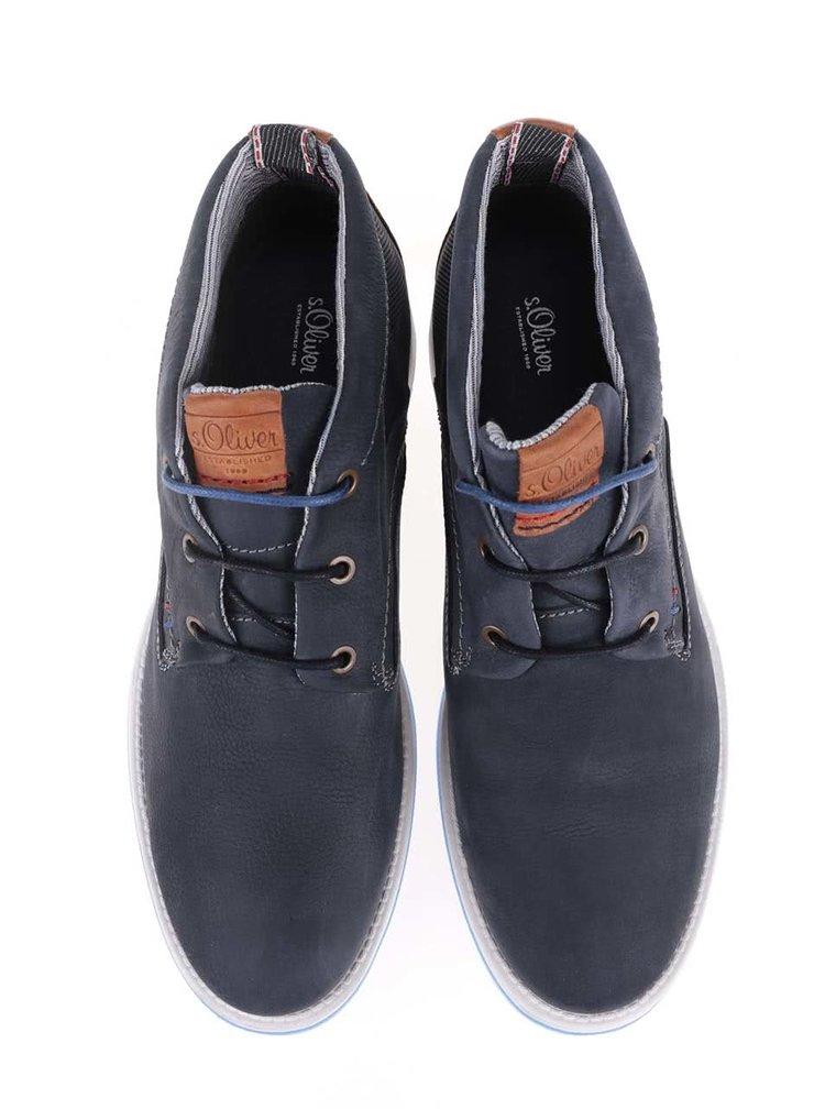 Pantofi sport bărbătești S.Oliver albastru închis, din piele