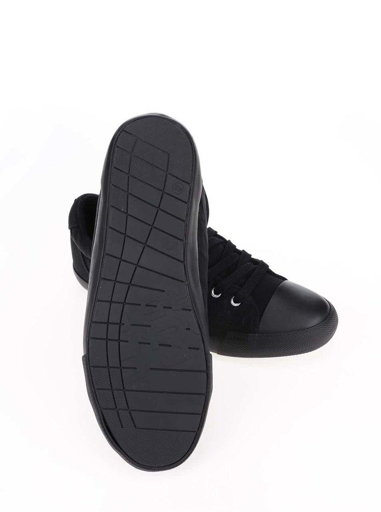 Černé pánské tenisky s matnou špičkou s.Oliver