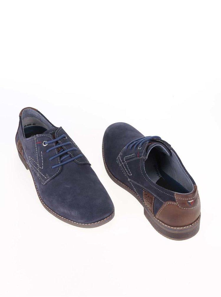 Pantofi bărbătești S.Oliver albastru cu maro