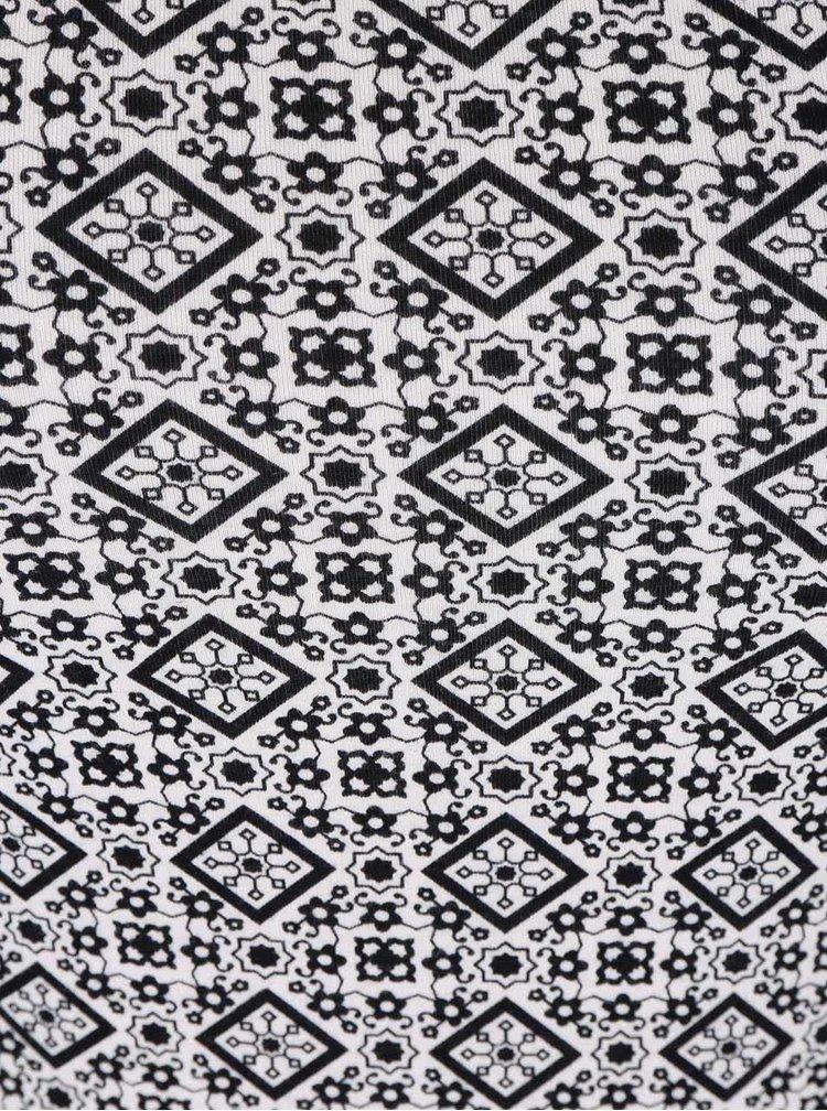 Čierno-biele vzorované tielko Haily´s Linda