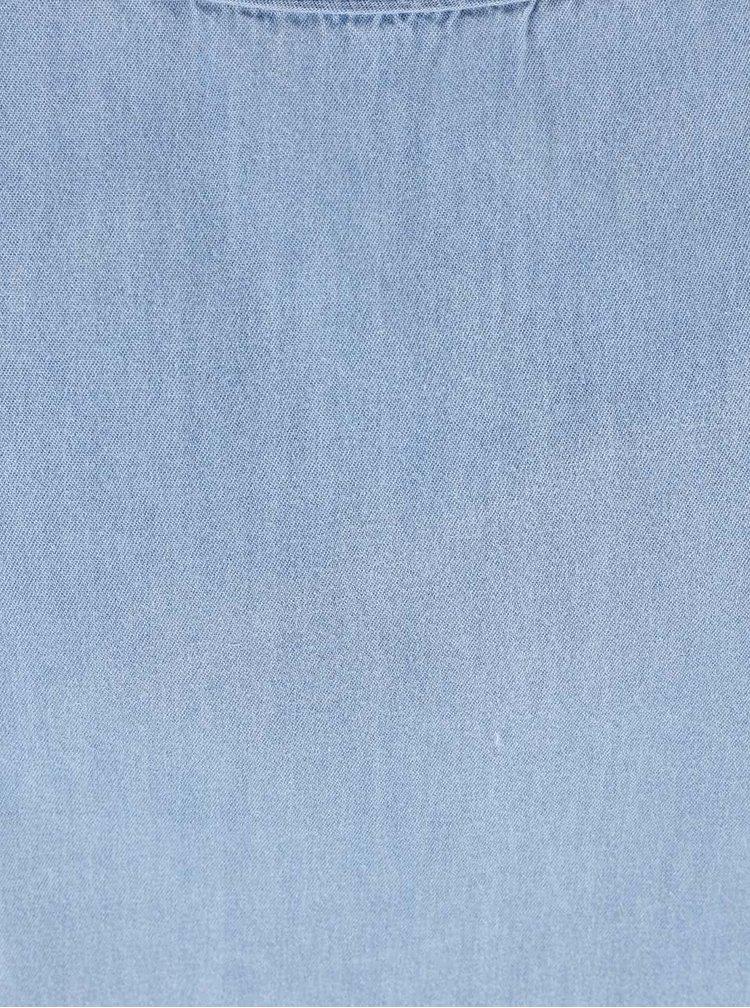 Top Haily's Cassandra din denim albastru deschis