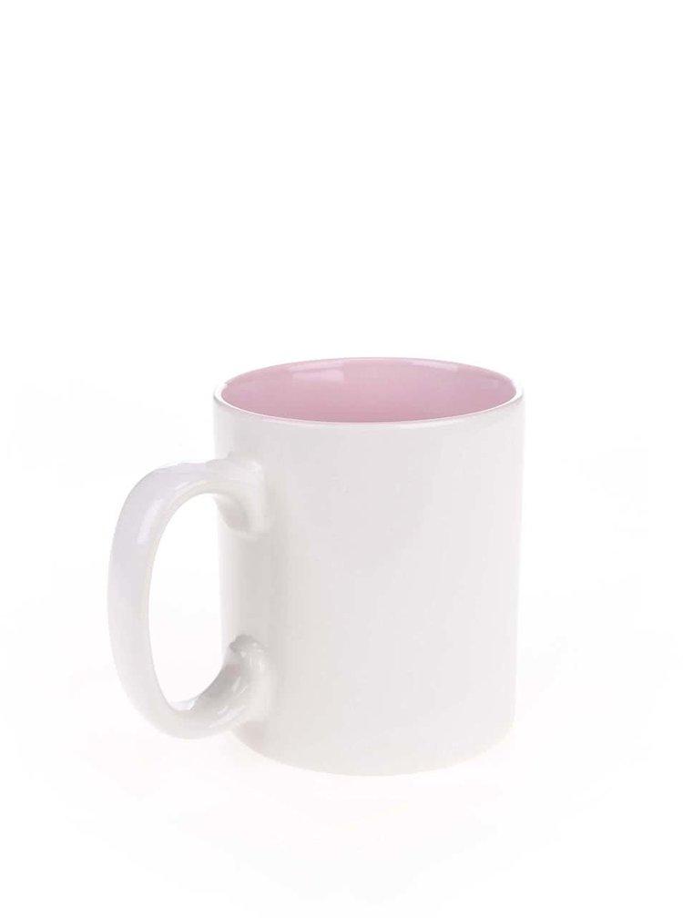 Růžovo-bílý hrnek Dakls