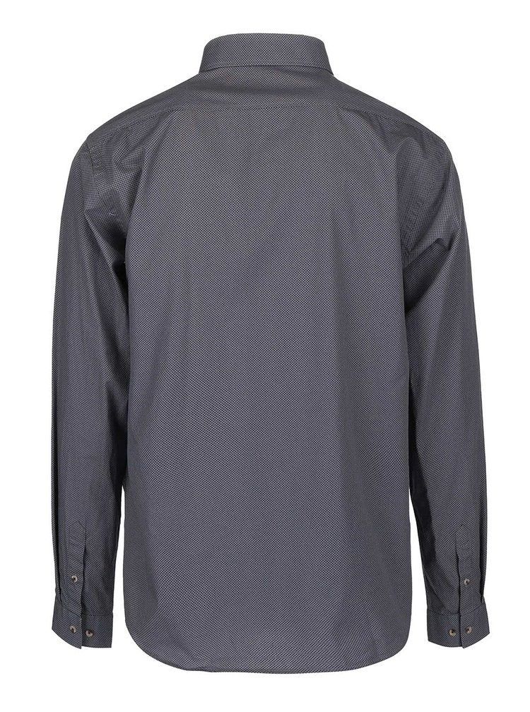 Svetlosivá košeľa s drobným vzorom Bertoni Malte