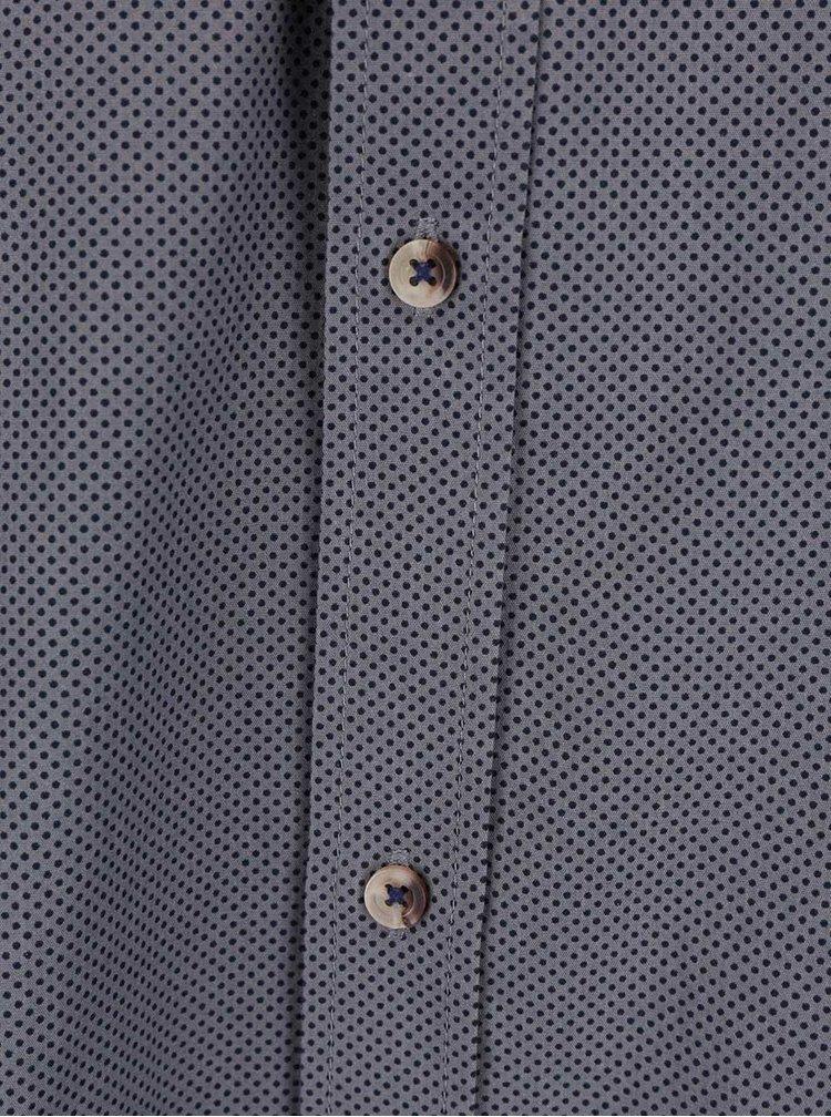Světle šedá košile s drobným vzorem Bertoni Malte