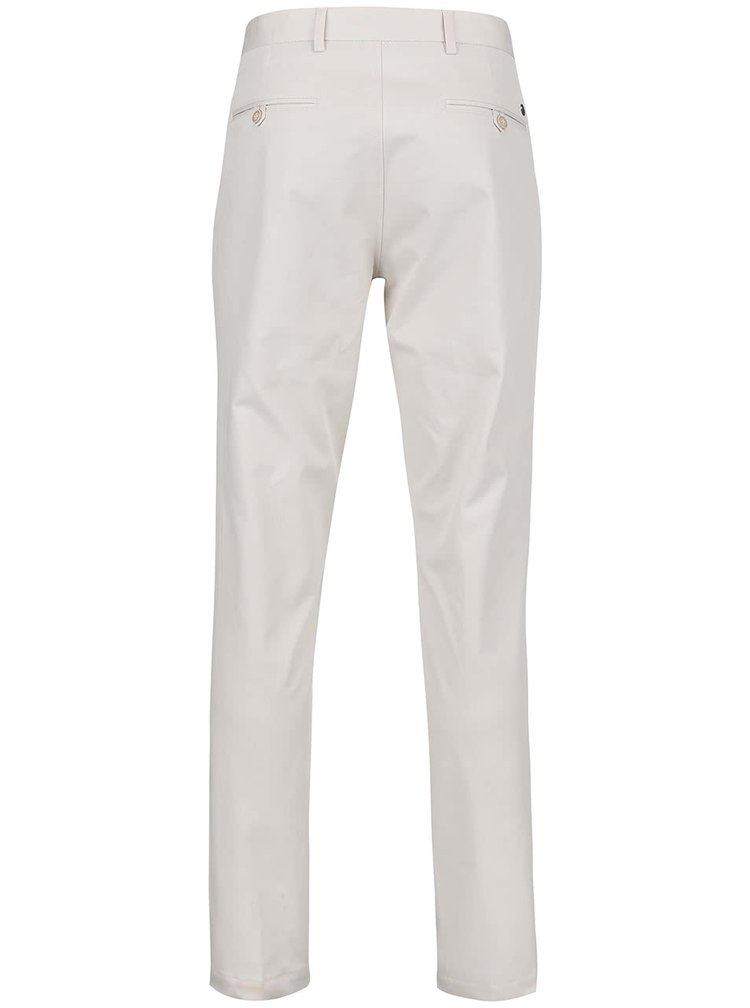 Krémové chinos nohavice Bertoni Beck