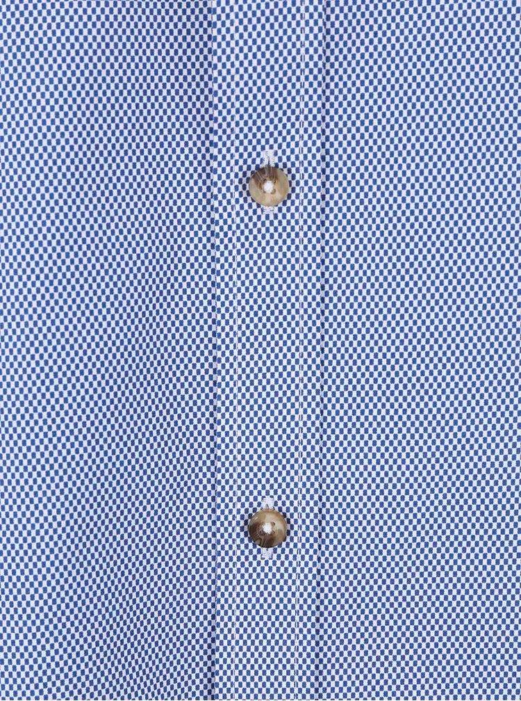 Modrá košile s drobným vzorem Bertoni Malte