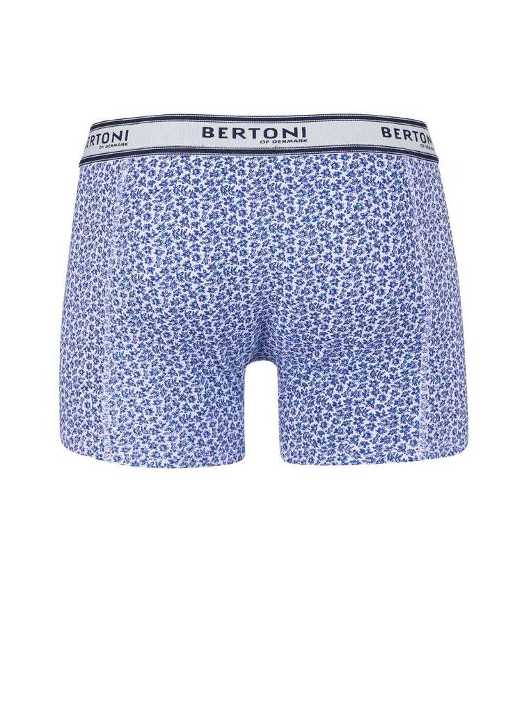 Set boxeri Bertoni Bertil albaștri cu imprimeu