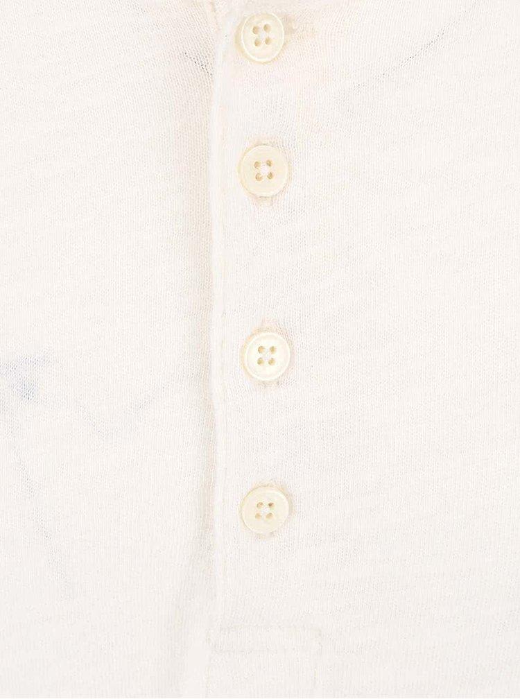 Krémové triko s dlouhými rukávy Selected Homme Carter