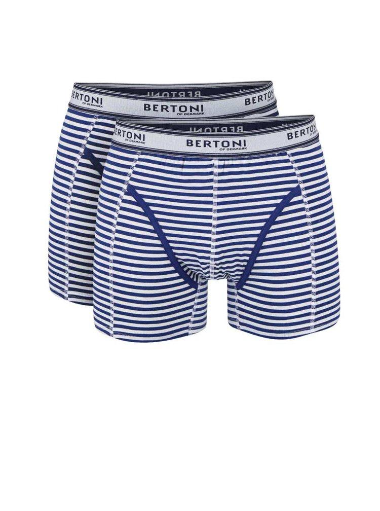 Set boxeri Bertoni Bertil cu dungi albastre
