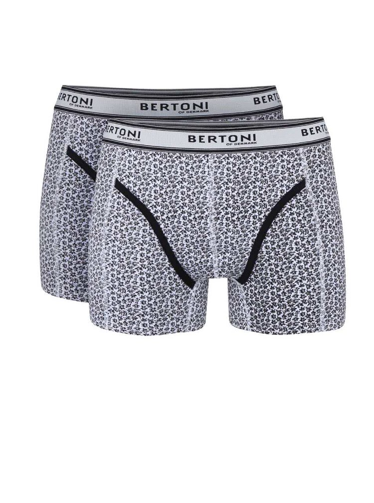 Sada dvou černých vzorovaných boxerek Bertoni Bertil