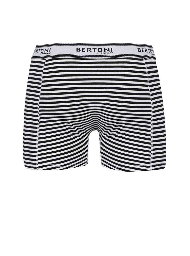 Černé pruhované boxerky Bertoni Vagn