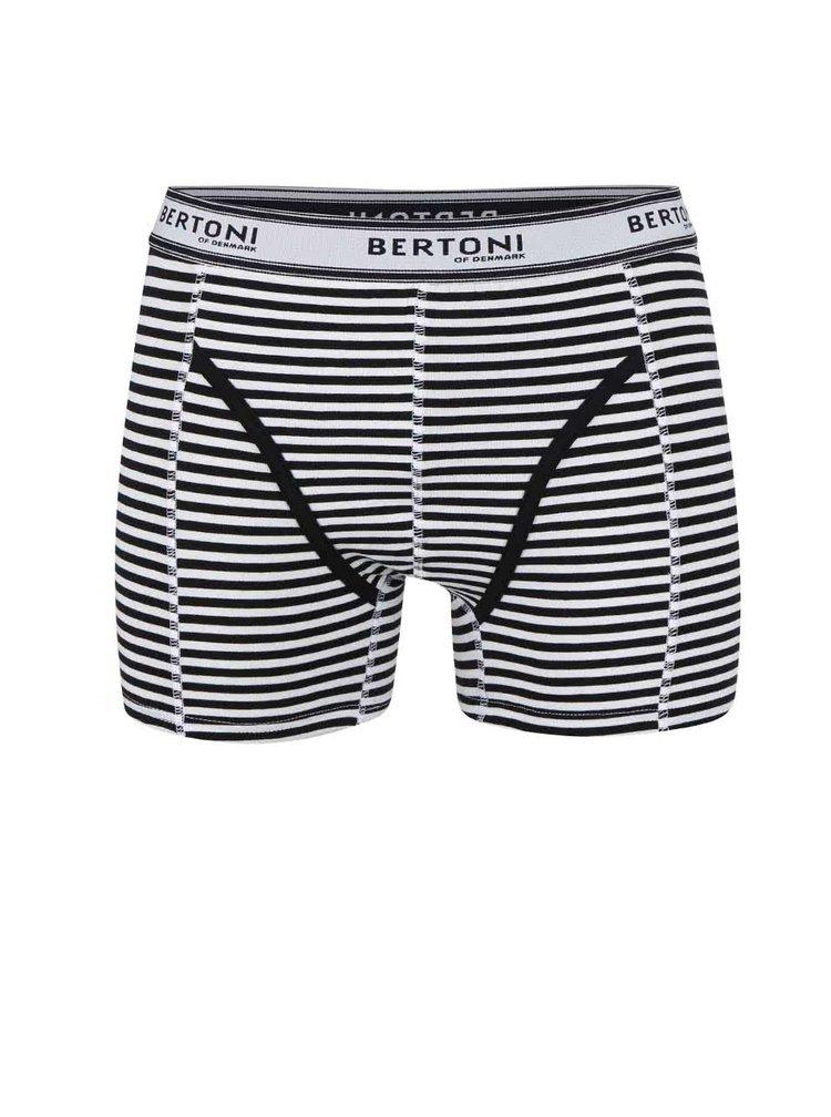 Čierne pruhované boxerky Bertoni Vagn