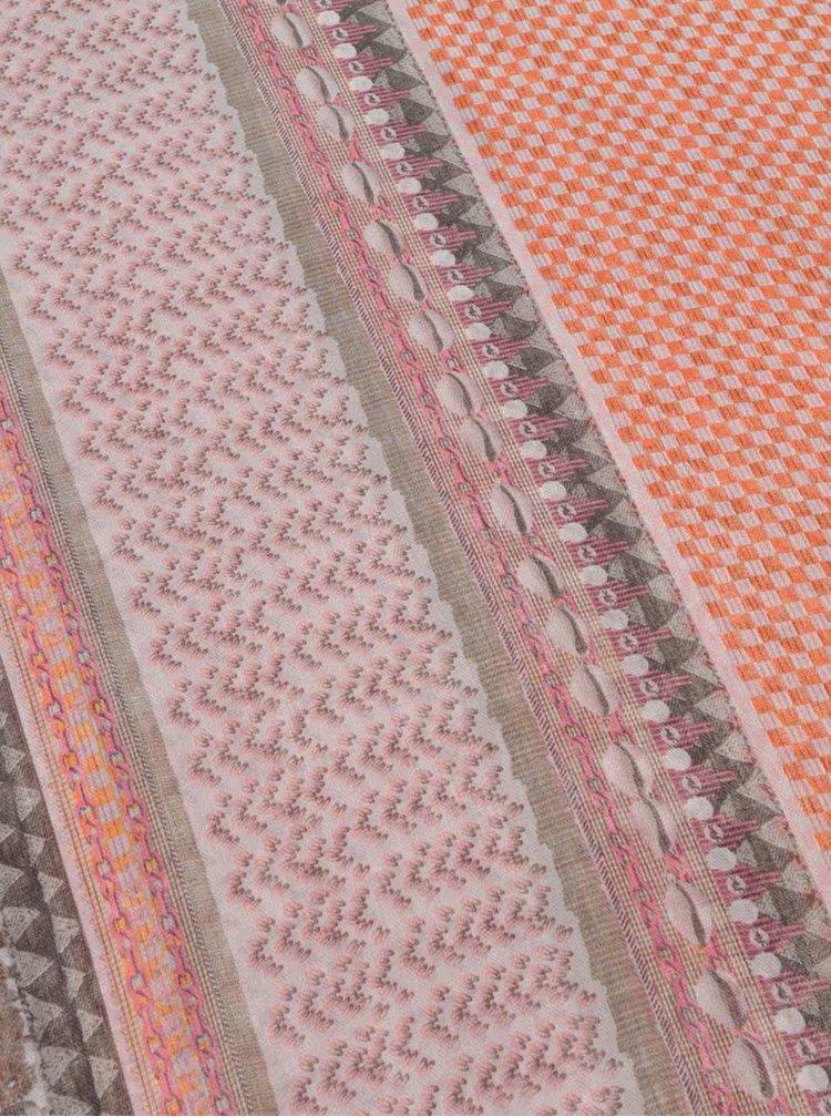 Červeno-šedý šátek Zabaione Quadrat