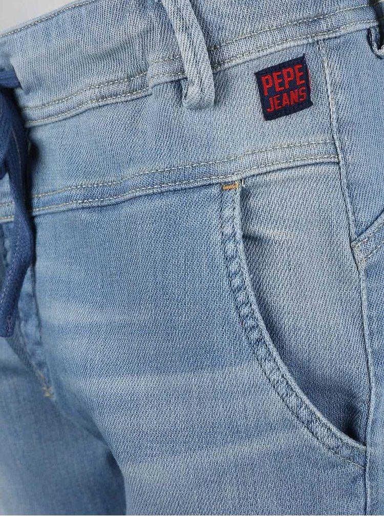 Blugi Pepe Jeans Tempo albaștri cu dantelă
