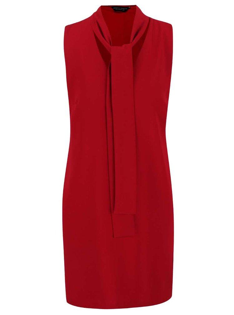 Červené šaty s viazankou Dorothy Perkins