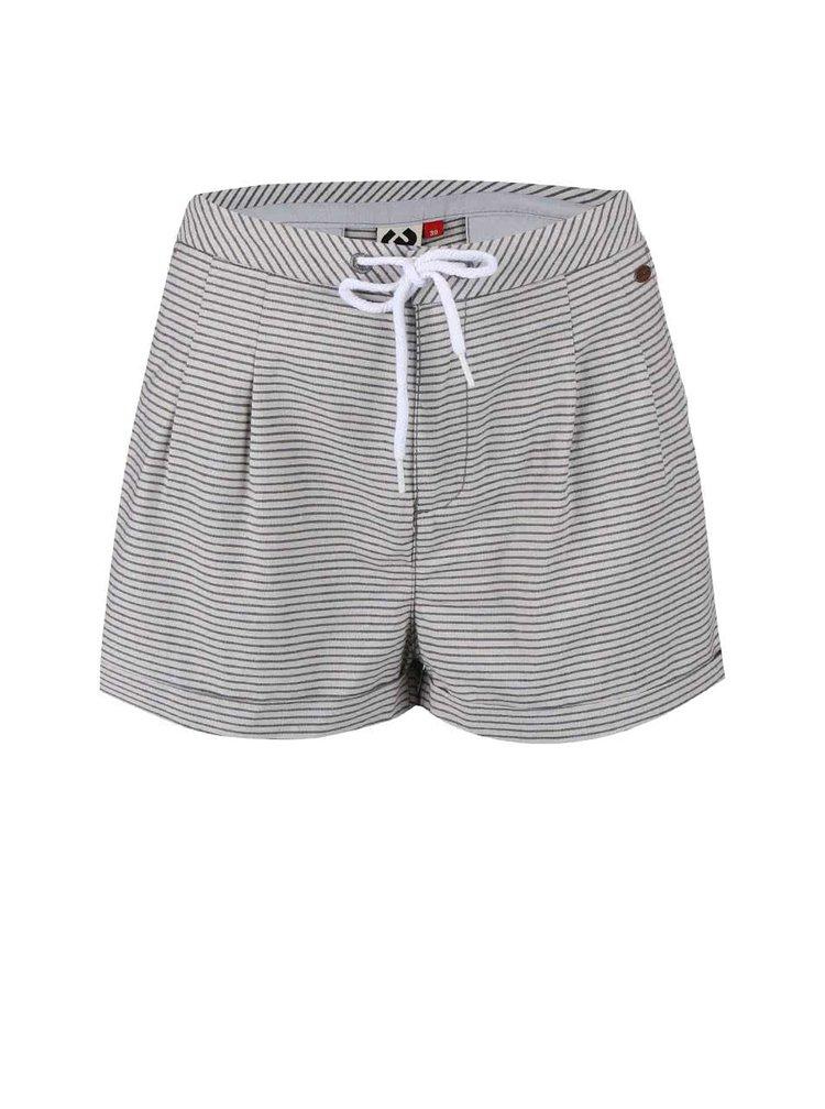 Pantaloni scurți în dungi Ragwear High albi