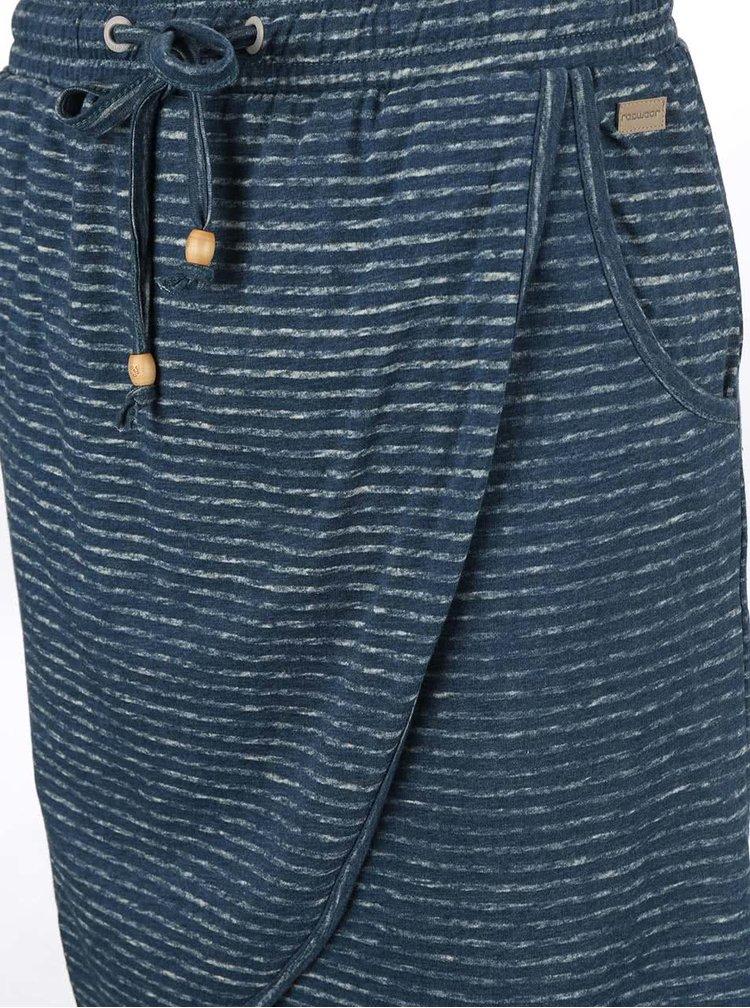 Petrolejová pruhovaná sukně Ragwear Naila