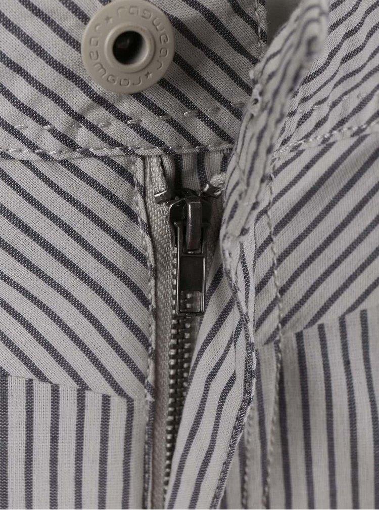 Šedé dámské pruhované kraťasy s páskem Ragwear Sandra