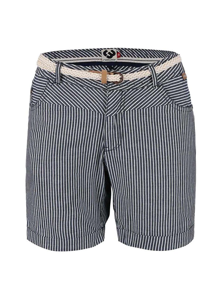 Pantaloni scurți în dungi Ragwear Sandra navy