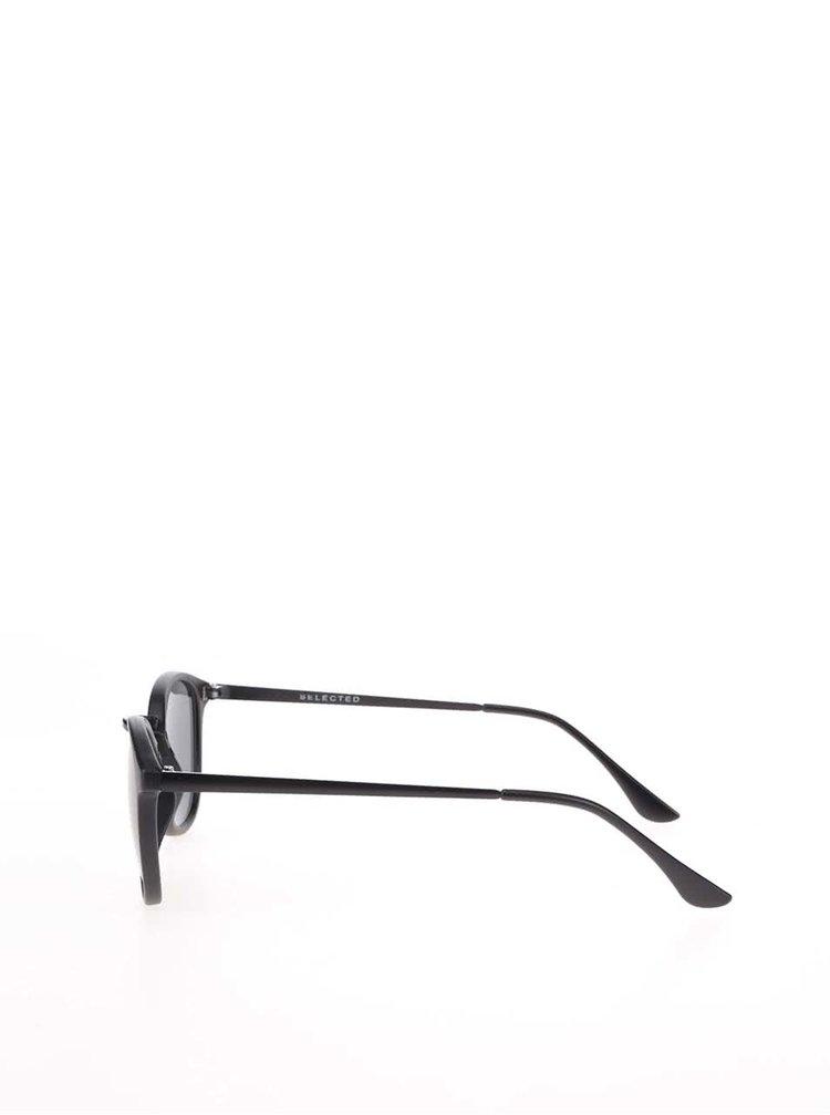 Černé kulaté brýle Selected Homme Adriano