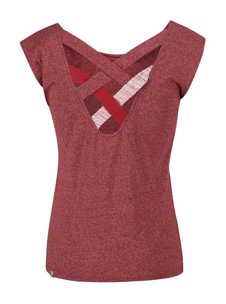 Červené dámské žíhané tričko Ragwear Sofia