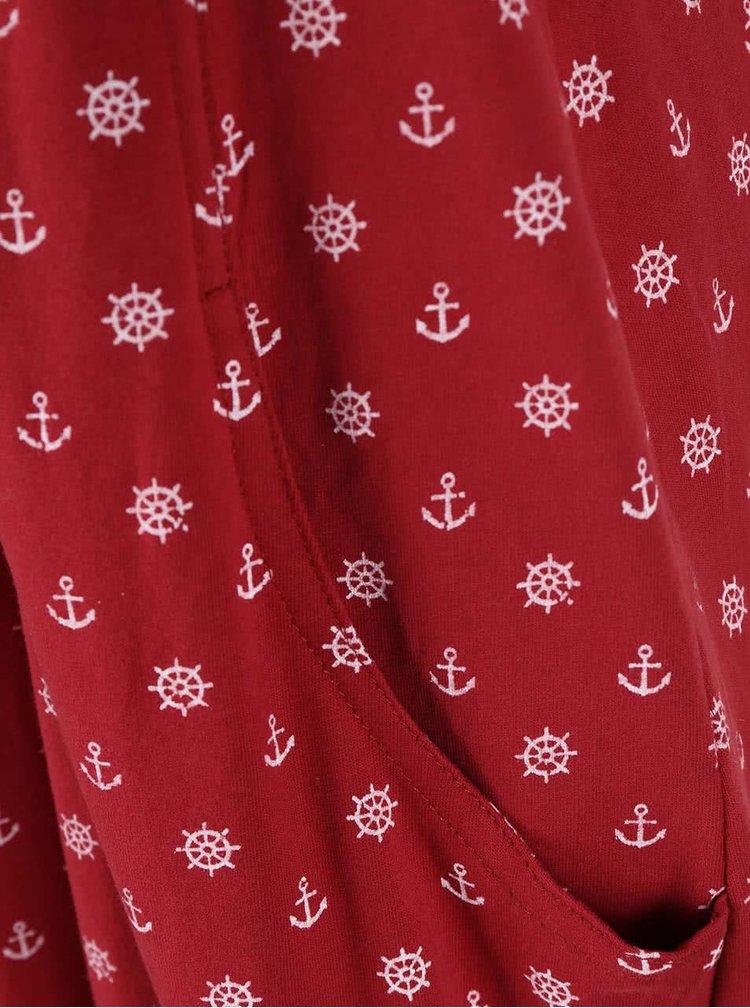 Červené vzorované šaty Ragwear Scene