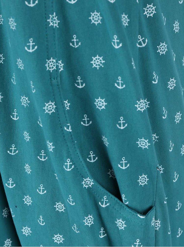 Zelené vzorované šaty Ragwear Scene