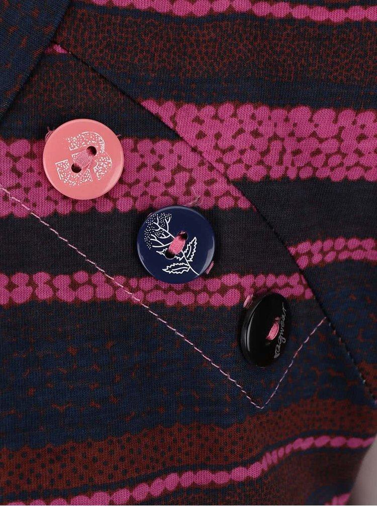 Modro-růžové dámské pruhované tílko Ragwear Mike