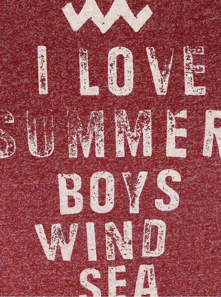 Červené dámské žíhané tričko Ragwear Mint