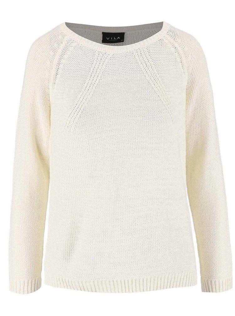 Krémový sveter VILA Diga