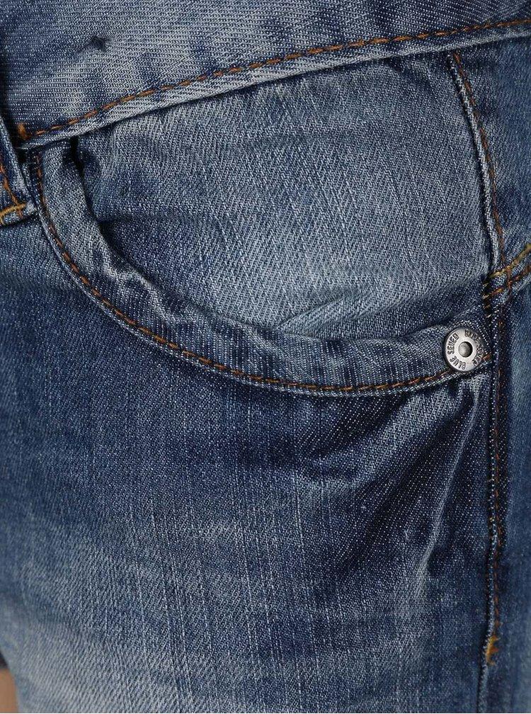 Tmavomodré dievčenské rifľové kraťasy Blue Seven