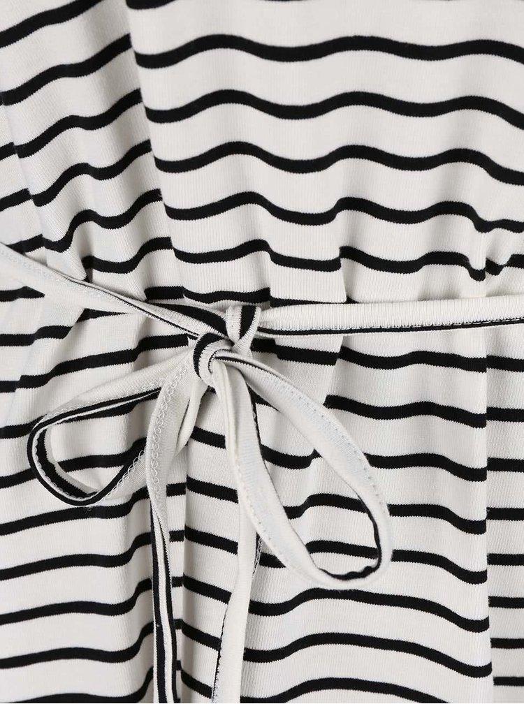 Krémové pruhované šaty VILA Honesty