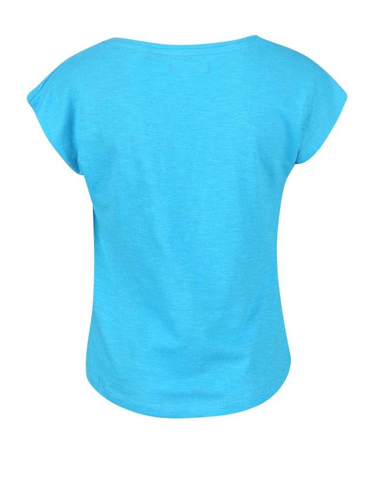 Tricou turcoaz cu model Blue Seven pentru fete