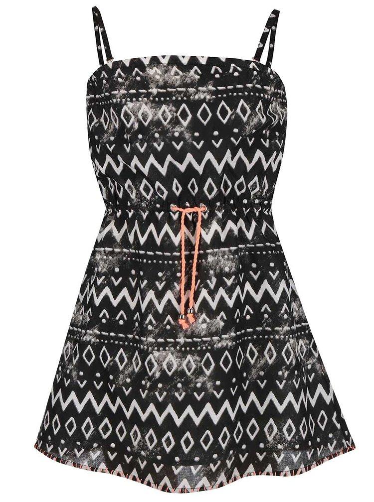 Bílo-černé šaty se vzory Blue Seven