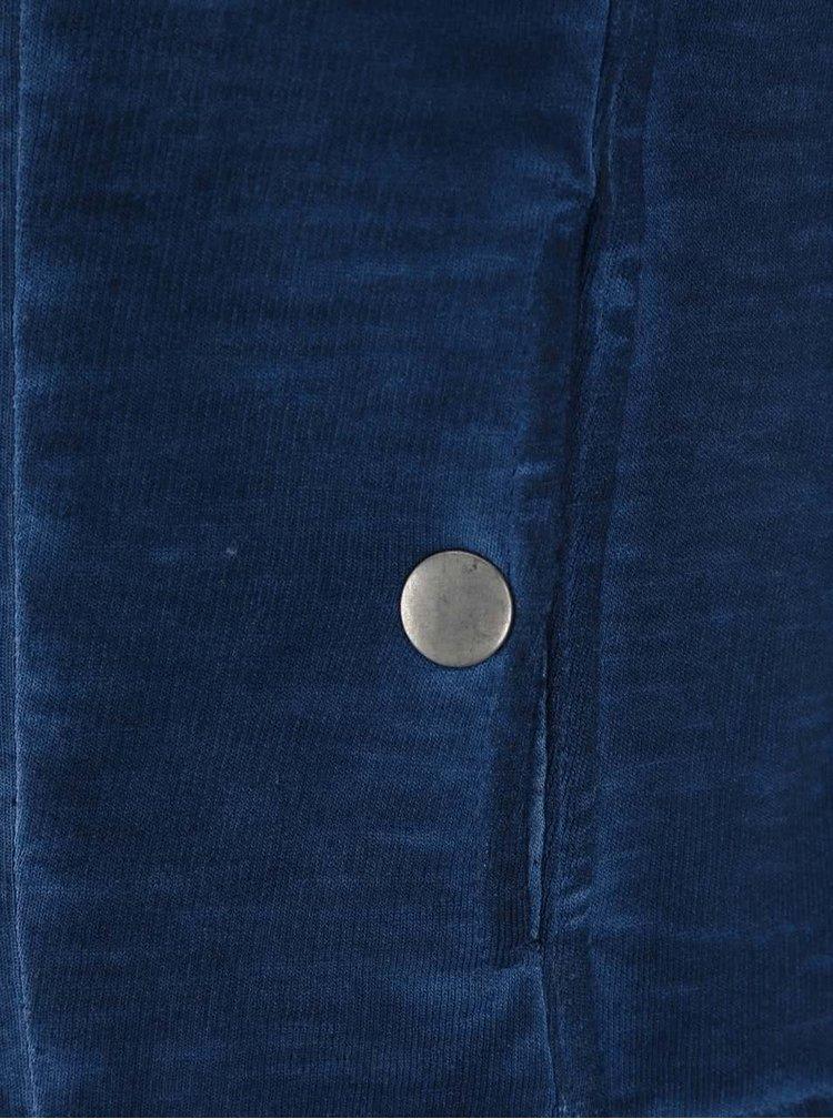 Pulover Blue Seven albastru închis cu fermoar pentru fete