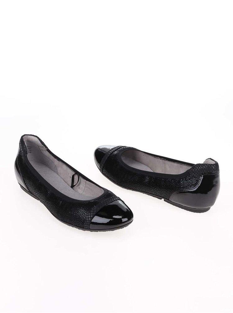 Černé lesklé baleríny Tamaris