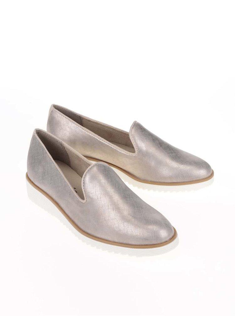 Loafers v zlaté barvě Tamaris