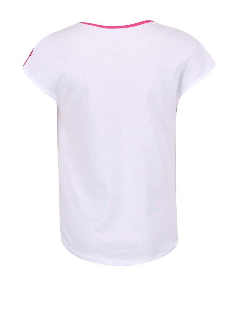 Bílo-růžové holčičí pruhované tričko s motýlem Blue Seven