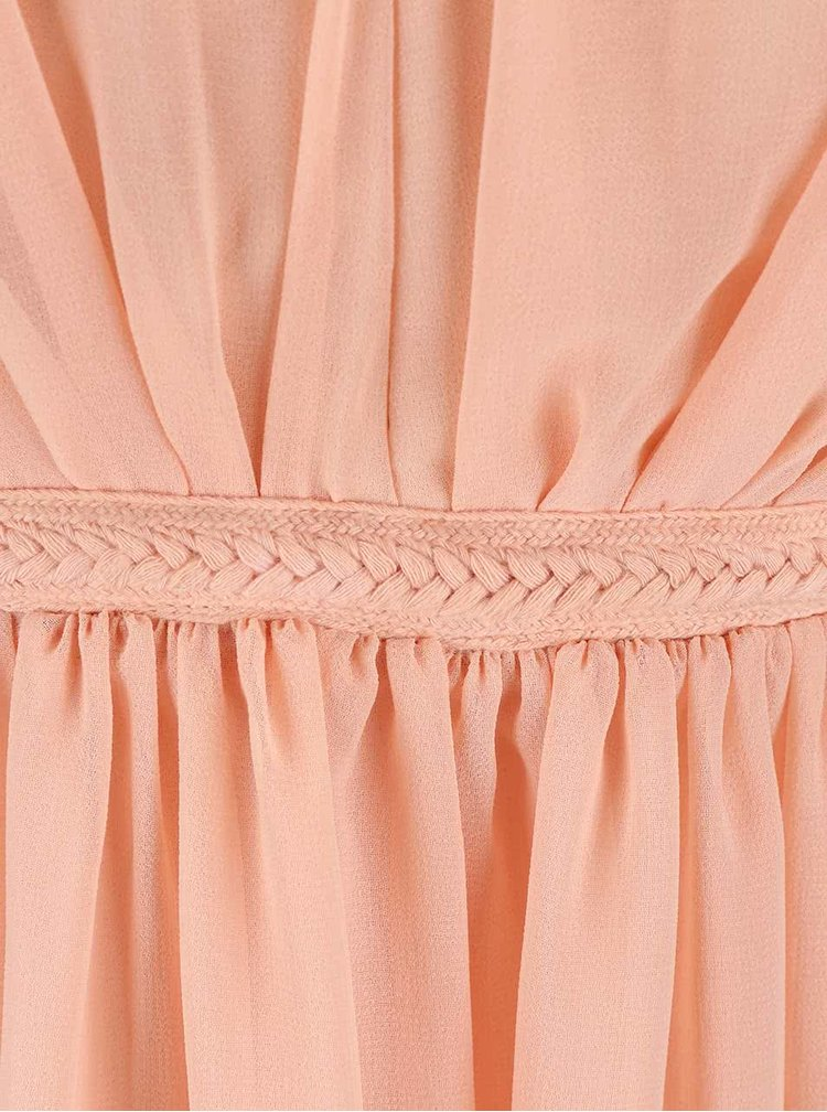 Meruňkové šaty VILA Cotina
