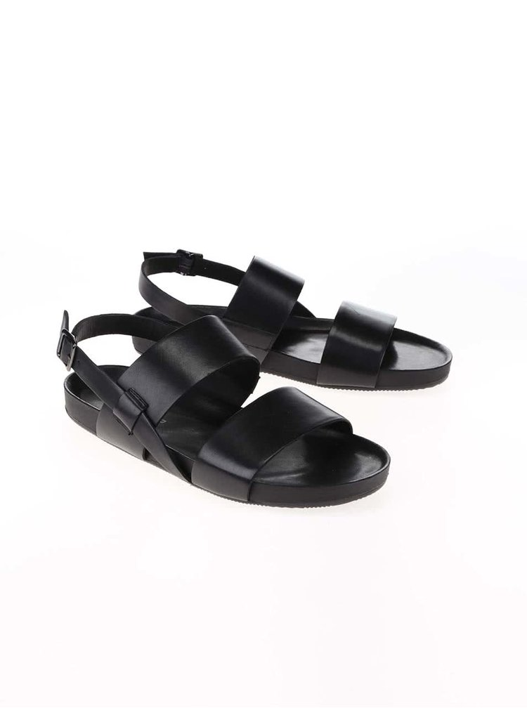 Čierne kožené pánske sandále Vagabond Funk