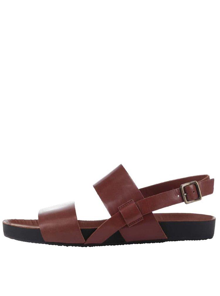 Hnedé kožené pánske sandále Vagabond Funk