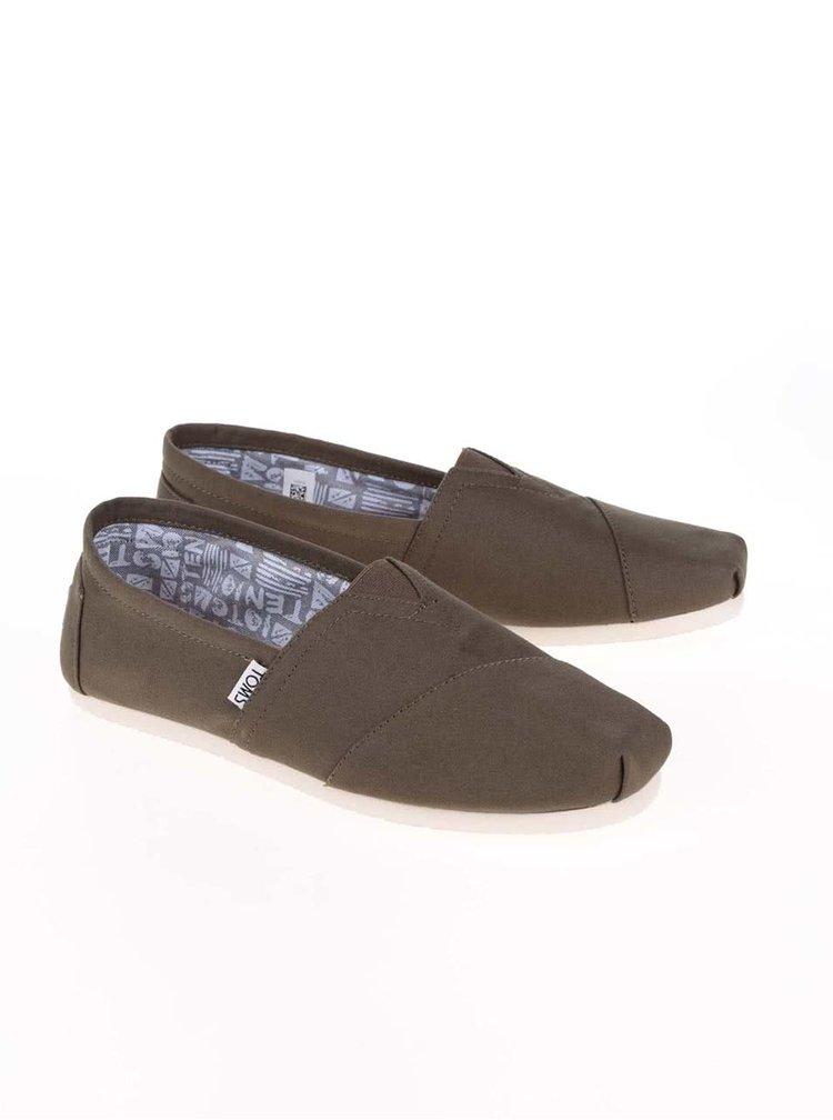 Olivové pánské loafers TOMS Alpargatas